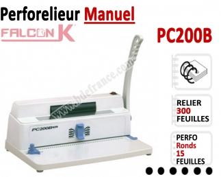 Perforelieur 4:1 Manuel 15 pages A4 -Reliure Coil 4:1 Trous Ronds PC200B FALCONK Machine à relier par anneaux