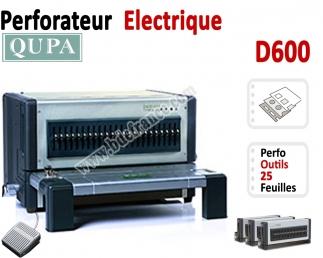 Perforateur Horizontal Electrique -Perforation 25 feuilles A4 D600 QUPA  A - Perforateur