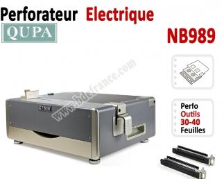Perforation Verticale Electrique - Perforation 35 feuilles A4 NB989 QUPA  Machine à relier par anneaux