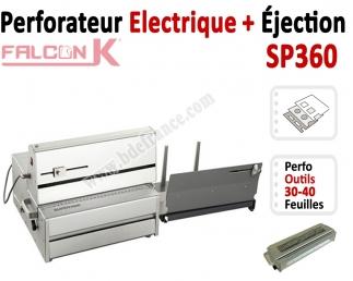Perforateur Electrique 30-40 feuilles A4 - + Ejection papier SP360 FALCONK Machine à relier par anneaux