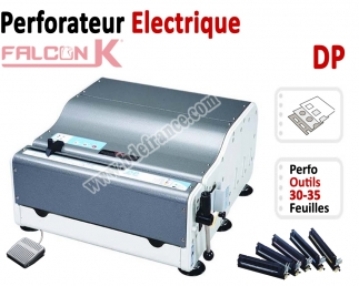 Perforation Verticale Electrique - Perforation 35 feuilles A4 DP FALCONK Machine à relier par anneaux