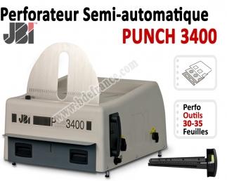 Perforation Verticale Electrique - Perforation 30 feuilles A4 P3400M  JBI Machine à relier par anneaux