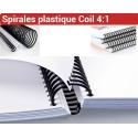 Spirales plastique Coil Pas : 4:1 - Du Ø 6 au Ø 33mm 2 à 270 feuilles