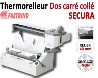 Relieur Dos carré collé semi manuel - Capacité de reliure : 400 feuilles A4 SECURA FastBind A - Thermorelieur FASTBIND