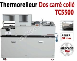Thermorelieur semi-automatique - Pour dos carré collé colle EVA TC5500  N°3 Thermorelieur par dos carré collé