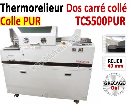 Thermorelieur semi-automatique PUR - Pour dos carré collé colle PUR TC5500 PUR  N°3 Thermorelieur par dos carré collé