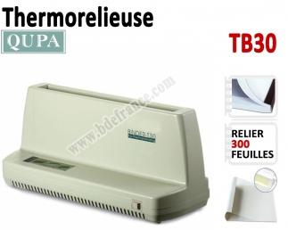 Relieur Par Chemises thermique A4 - Capacité de reliure : 300 feuilles TB30 QUPA  N°1 Thermorelieur par couverture Pré-encollée
