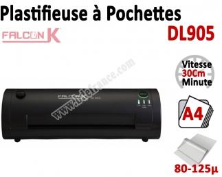 Plastifieuse à Pochettes A4  Eco - Plastifier : 80/100/125µ DL905 FALCONK N°1 Plastifieuse à pochette de bureau
