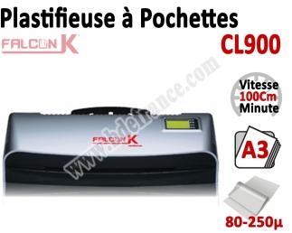 Plastifieuse à Pochettes A3 - 4 Rouleaux + Plaque chauffante CL900 FALCONK N°2 Plastifieuse à pochette Pro