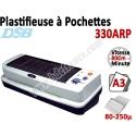 Plastifieuse à Pochettes A3 - Vitesse : 80 cm/mn, 80-250µ