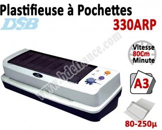 Plastifieuse à Pochettes A3 - Vitesse : 80 cm/mn, 80-250µ 330ARP DSB Machine à Plastifier
