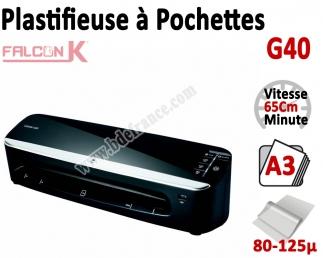 Plastifieuse à Pochettes A3 - Plastifier : 80 /100/125µ G40 FALCONK Machine à Plastifier