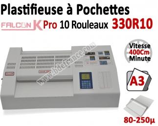 Plastifieuse à Pochettes A3 Pro - 10 Rouleaux 330R10 FALCONK Machine à Plastifier