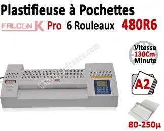 Plastifieuse à Pochettes A2 Pro - 6 Rouleaux 480R6 FALCONK Machine à Plastifier