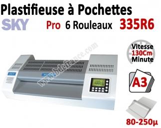 Plastifieuse à Pochettes A3 Pro - 6 Rouleaux 335R6 SKY Machine à Plastifier