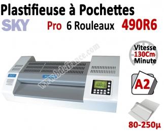Plastifieuse à Pochettes A2 Pro - 6 Rouleaux 490R6 SKY Machine à Plastifier