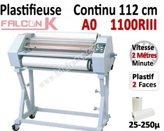 Plastifieuse en Continu 112 cm / A0+ - Stand inclus, Vitesse : 200 cm/mn 1100RIII FALCONK Accueil