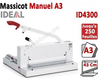 Longueur de coupe: 430 mm - Capacité de coupe: 20 mm ID4300 IDEAL N°1 Massicots