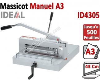 Longueur de coupe: 430 mm - Capacité de coupe: 40 mm ID4305 IDEAL N°1 Massicots