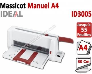Massicot Manuel formats A5 à A4 - Capacité de coupe : 55 feuilles ID3005 IDEAL N°1 Massicots