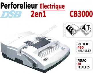 Perforelieur Electrique 20 feuilles A4 - Anneaux Plastique & 4 Trous Classeur CB3000 DSB N°1 Machines à relier anneaux plasti...
