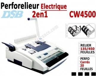 Perforelieur Electrique 20 feuilles A4 - Anneaux Plastique & 3:1 Métalliques CW4500 DSB N°3 Perforelieur Multifonctions