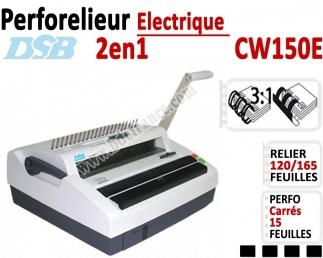 Perforelieur Electrique 15 feuilles A4 - Anneaux Plastique & 3:1 Métalliques CW150E DSB Machine à relier par anneaux