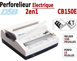 Perforelieur Electrique 15 feuilles A4 - Anneaux Plastique & 4 Trous Classeur CB150E DSB N°1 Machines à relier anneaux plasti...