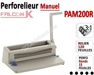 Perforelieur 3:1 manuel 15 pages - Relier 120 feuilles A4,Perforation Rond PAM200R FALCONK Machine à relier par anneaux