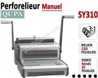 Perforelieur 3:1 manuel 25 pages - Relier 120 feuilles A4,Perforation Rond SY310 QUPA  Machine à relier par anneaux