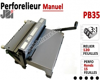 Perforelieur 3:1 manuel 15 pages - Relier 120 feuilles A4,Perforation Rond PB/35 JBI Machine à relier par anneaux