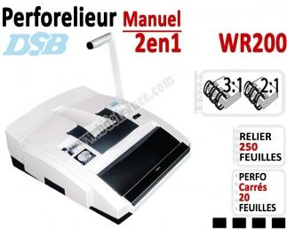 Perforelieur 3:1 & 2:1 manuel 20 pages - Relier 250 feuilles A4,Perforation Carré WR200 DSB N°3 Perforelieur Multifonctions