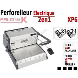 Perforelieur électrique 25 feuilles A4 - Anneaux Métalliques 3:1 & 2:1 XP6 FALCONK Machine à relier par anneaux
