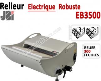 Relieur Electrique Metal 3:1& 2:1 - Relier jusqu'au 300 feuilles. EB3500 JBI Machine à relier par anneaux