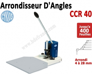 Machine à arrondir CCR40  -  Sans Outils Inclus 4, 6, 9, 12, 18, 28 mm CCR40 CYKLOS Arrondisseur d'angles