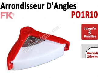 Machine à arrondir Jusqu'à 3 feuilles  -  1 Arrondi de 10mm   PO1R10 PO1R10 FALCONK Arrondisseur d'angles