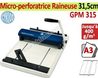 Micro-perforatrice Raineuse : 31,5cm - Traçage Du Rainage 1,2-1,8mm GPM315 CYKLOS Les Raineuses Manuelles