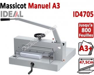 Longueur de coupe: 475 mm - Capacité de coupe: 70 mm ID4705 IDEAL Massicots manuels