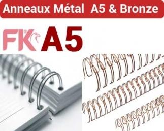 Anneaux métalliques 3:1 Bronze - Anneaux métalliques A5 BRONZE FALCONK N° 3 - Anneaux métalliques A4 Bronze & A5