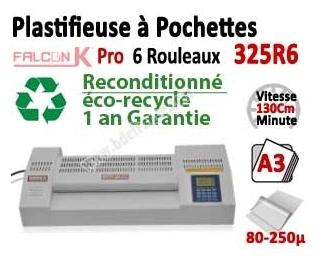 Plastifieuse à Pochettes A3 Pro - 6 Rouleaux 325R6OCCAS FALCONK Machine à Plastifier