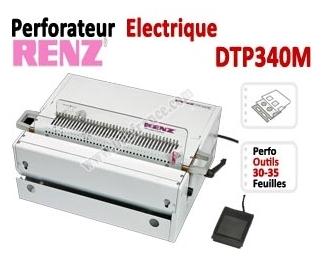 Perforation Verticale Electrique - Perforation 30 feuilles A4 DTP340M JBI Machine à relier par anneaux