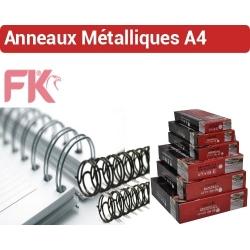 Reliure Anneaux métalliques 3:1 & 2:1 - De 20 feuilles 3/16 à 300 feuilles 1-1/2 RGM23F FALCONK N° 2 - Anneaux métalliques A4