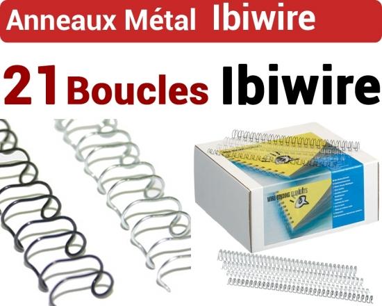 Anneaux Métal IBIWIRE pas 14.28mm - 21 anneaux métallique  GBC N°3B - Anneaux métalliques IBIWIRE