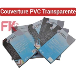 Couverture PVC Polypro Transparent -PVC 20/100 ULTRA A4 & A3  FALCONK N° 12- Couverture Transparent PVC,Mat A4 & A3