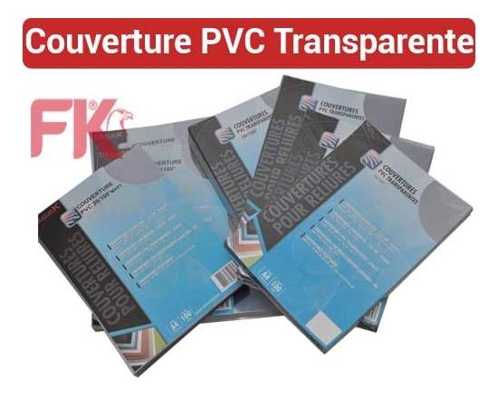 Couverture PVC Polypro Transparent -PVC 20/100 ULTRA A4 & A3 FALCONK N° 12- Couverture Transparent PVC,Mat A4 & A3