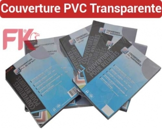 Couverture Transparent  FALCONK 12- Couverture Transparent PVC,Mat A4 & A3