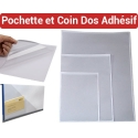 Pochette et Coin Dos Adhésif - Pochette CD dos adhésif