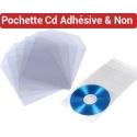 Pochette CD Protection Avec Rabat - Pochette CD Dos Adhésif