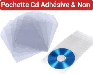 Pochette CD Protection Avec Rabat - Pochette CD Dos Adhésif FALCONK N° 6 - Pochette Cd/Dvd Adhésive Et Accessoire