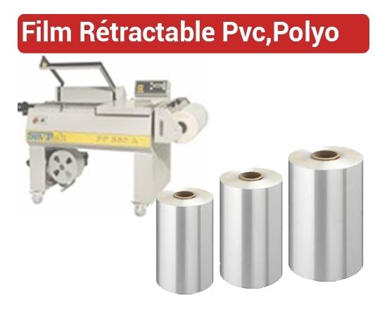 Film Rétractable FR FALCONK 6 - Film rétractable PVC, POLYOLEFINE